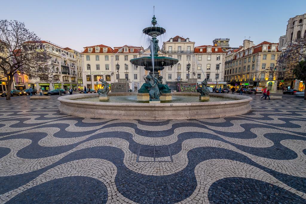 Fuente de la Plaza de Rossio, Lisboa