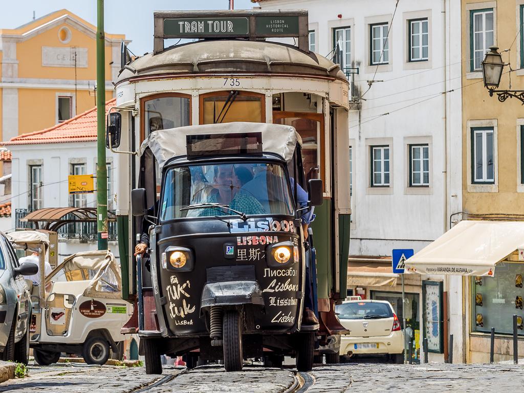 Tuk tuk y tranvia, Lisboa