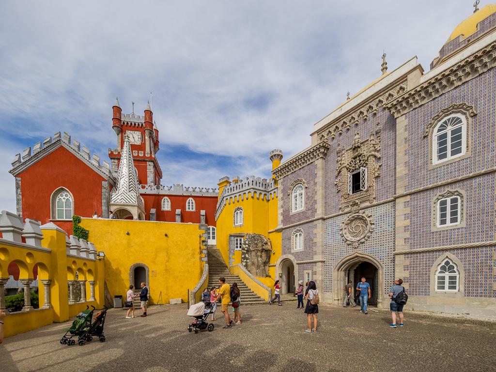 Terraza en Palacio da Pena, Sintra