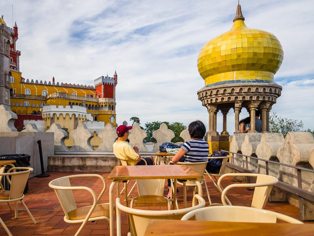 Vista del Palacio da Pena desde la cafetería. Sintra